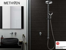 Methven's Aurajet Aio shower awarded 'Best of the Best' at 2017 Red Dot Awards