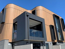 Curves enabled by Cemintel Territory panels turn heads at Geelong townhouses
