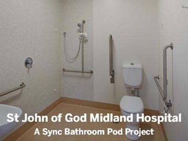 245 sync health pods customised for new wa hospital for Bathroom decor and tiles midland