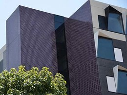 Hardwearing brick facade on Monash University student accommodation