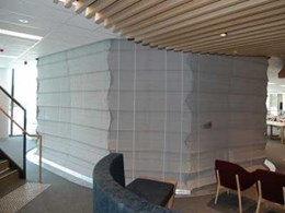 Smoke Control's concertina curtains protecting NRMA head office