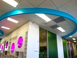 Custom tiles from Gyprock casting plaster resolve failing ceiling issue at schools