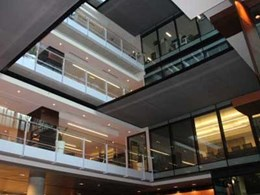 NVS horizontal fire curtains installed in Lend Lease building to meet BCA's atrium provisions