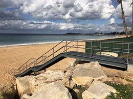 Fleetwood staircase provides safe access to Narrabeen Beach