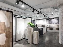 Aglo provides LED lighting design to National Tiles showroom in Richmond VIC