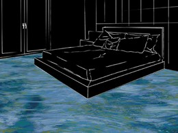 Ocean inspired custom carpets introduce reflective calm into interior spaces