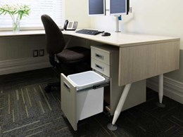 Hidden bins for offices from Hideaway Bins make efficient use of space