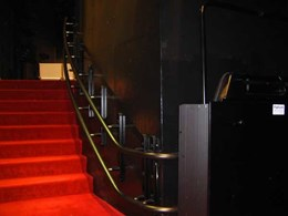 Two Cama C6 curved platform stairlifts installed at Sydney Opera House