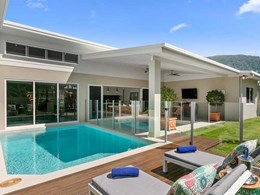 Invisi-Gard screening among high end inclusions at Palm Cove QLD property