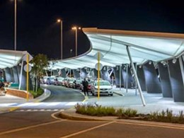 MakMax fabric canopies shelter passengers at Perth Airport