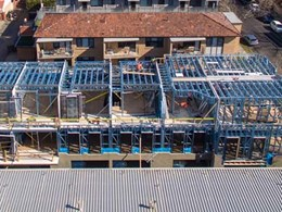 Complete steel framing package provided for Elwood, Vic townhouses