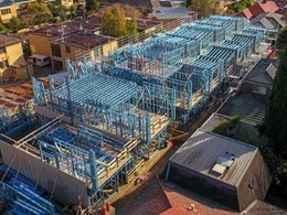 TRUECORE steel frames save time at 3-level townhouse development