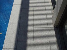 Silver granite and cobblestones from Robertson's Building Products specified for Malvern, Vic poolside