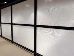 Translucent acoustic screens combine noise control with light entry at Port Hedland office
