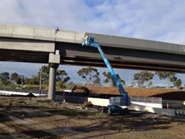 Anti-carbonation coating preventing concrete degradation on new Melbourne Airport bridge
