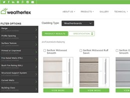 Weathertex simplifies project specifications with new online tool