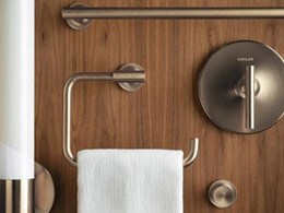 Kohler bathroom accessories in precious metal finishes