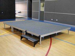 Simple, space saving stage solutions from Select Concepts