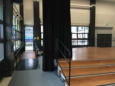 QUATTRO Modular Stage and Access Ramp fits to new school hall dimensions