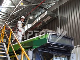 Fall arrest protection with freedom of movement at Melbourne tram depot