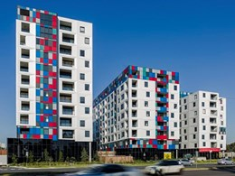 Vitracore G2 impresses on iconic Kubix Apartments' geometric façade