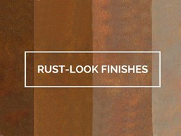 Get the raw edge in your design with DECO's new Rust-Look finishes