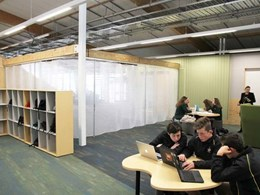Deterrent screens section off open-plan learning space at Rangiora High School
