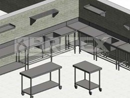Download Revit families for Britex's BenchTech stainless steel benches, sinks and shelves