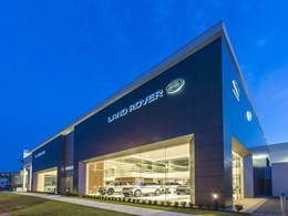 Vitracore G2 panels in custom Jaguar Land Rover colours on new Southport showroom