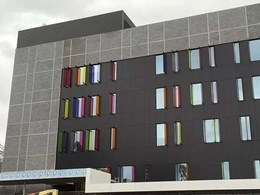 Custom formliner used with brick facing tiles to create impressive façade on Sydney hospital