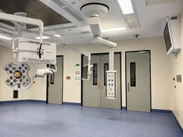 X-ray compliant GRP swing doors installed at Roma hospital