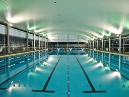 Curved roof architecture and design for 50m pool design