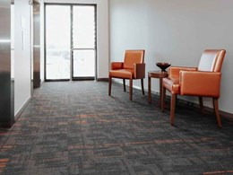 Signature carpet tiles complement modern aged care residence interiors