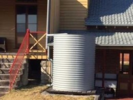Kingspan galvanised round tank blends with heritage Quarantine Station buildings