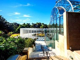 Automated louvres ensuring thermal control in The Calyx at Sydney Botanic Garden