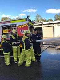 Sydney Greene Fire crew turn 'Fire Fighters for a day'