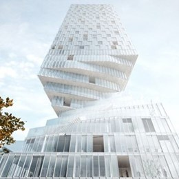 """Tower with waist"" by MVRDV minimises building shadow cast"