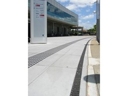 ACO Drain systems with anti-slip grates at Brisbane airport car park