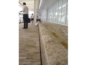 Aco polycrete s surface drainage system for singapore s for Surface drainage system design