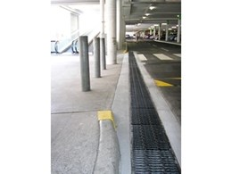ACO Polycrete trench drain and anti-slip grates installed at Ipswich shopping centre in Queensland