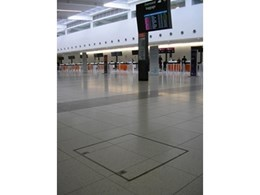 ACO Rhinocast covers specified for paving at Terminal 2, Perth Airport