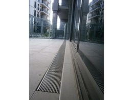 ACO channel and grate system used on Melbourne apartment balconies