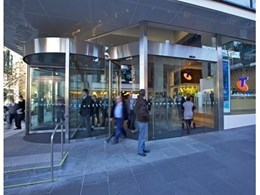 Record Automated Doors Installs Automatic Revolving, Sliding and Swing Doors at Telstra Building in Melbourne