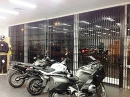 ATDC's retractable security doors preferred by motorcycle retailers