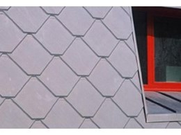Adeka zinc shingle tile cladding available from Euroclad