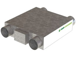 Air Change showcasing the new In Ceiling 70 Energy Recovery Ventilator at Future Build 2012