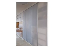 Aluminium frame Perspex doors from Mitchell Plastics used in Michael Ellis design