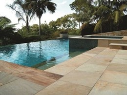 Amber natural sandstone range sets the standard for integrated outdoor living spaces