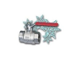 Anti-frost ball valves