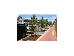 Arborgreen Landscape Products' RootCell zone and irrigation system features in Sydney streetscape